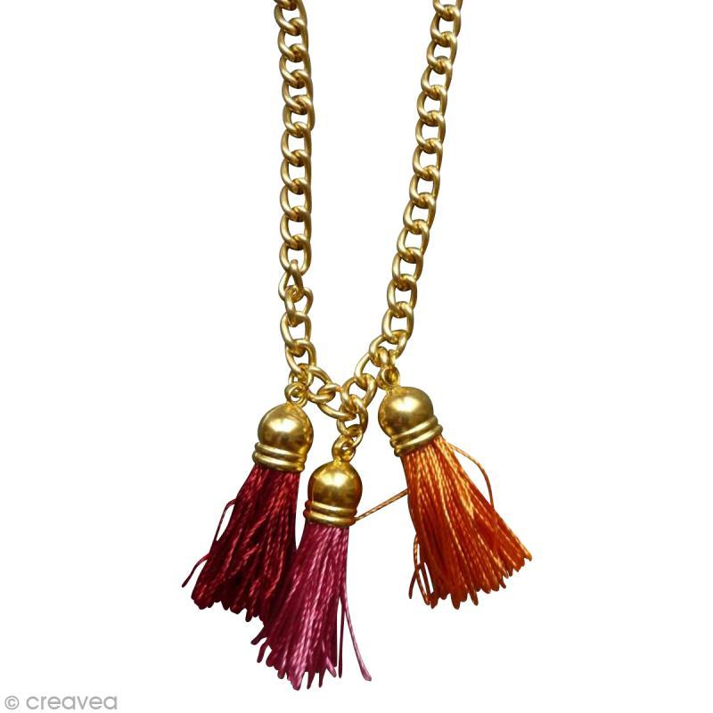 diy fabriquer un collier pompons id es et conseils perles et bijoux. Black Bedroom Furniture Sets. Home Design Ideas