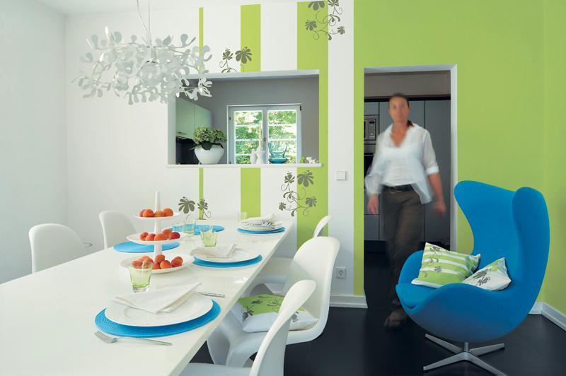 Refaire la d co de son int rieur avec la peinture d co marabu living id es - Peindre une salle a manger ...