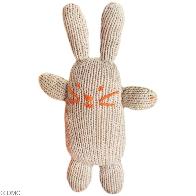 Tricoter un lapin bleu