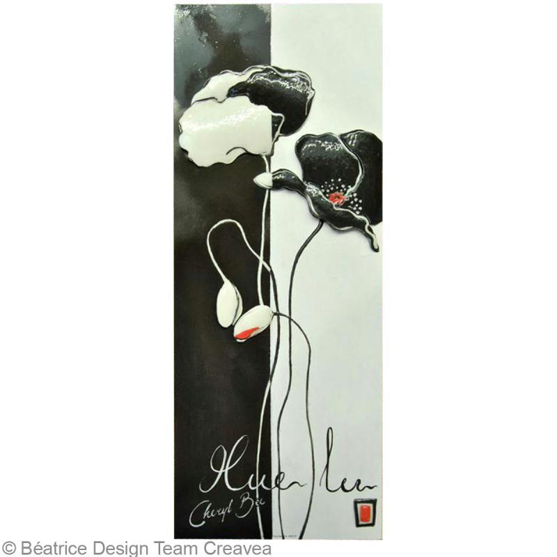 R aliser un tableau 3d fleurs design id es et conseils image 3d for Realiser un tableau