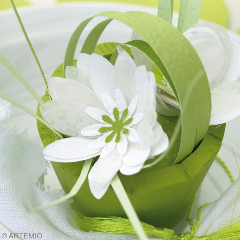 ... mariage vert et blanc : les assiettes - Idées et conseils Mariage
