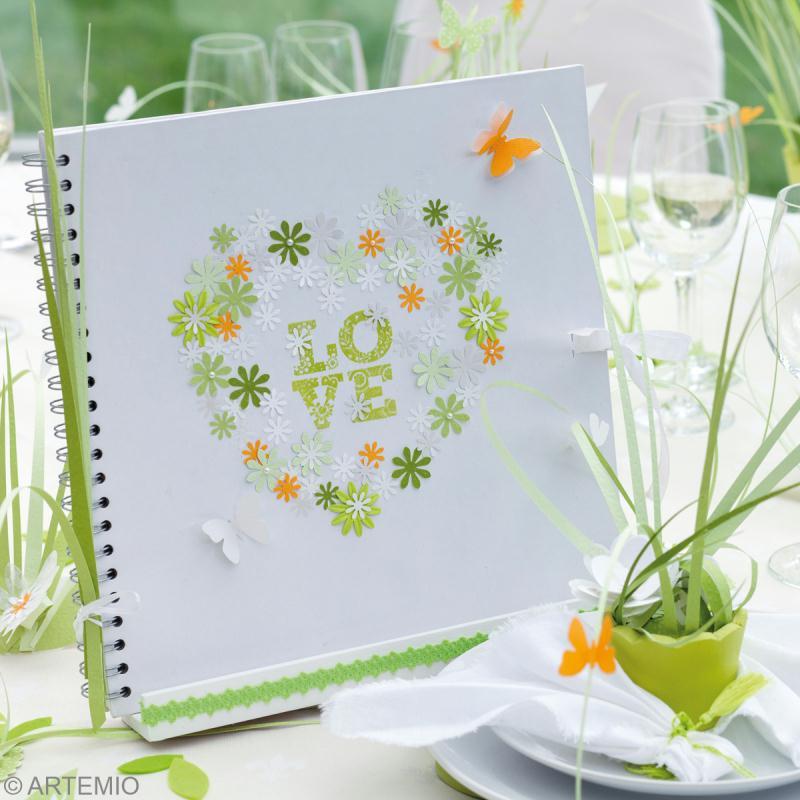 Deco mariage vert et blanc album de mariage et porte - Idee deco album photo ...