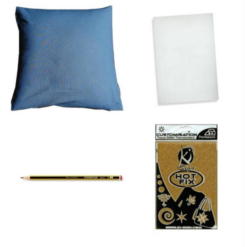diy customisation ajouter une lettre sur un coussin id es et conseils customisation. Black Bedroom Furniture Sets. Home Design Ideas