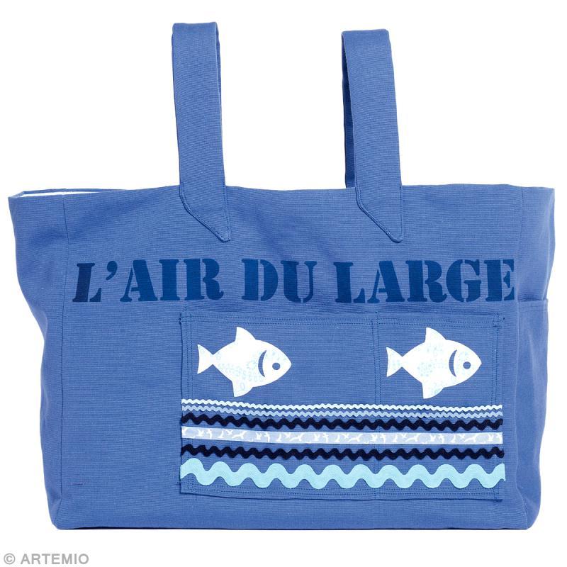 diy couture r aliser un sac de plage bleu id es et conseils couture. Black Bedroom Furniture Sets. Home Design Ideas