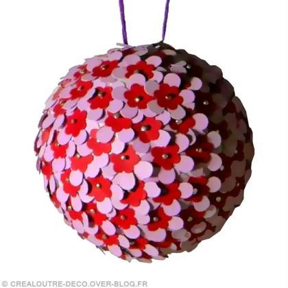 Diy boule de no l fleurie id es et conseils boules de no l - Fabrication de boule de noel ...