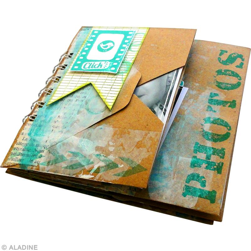 Tuto mini album scrap pour photos id es et conseils - Idee scrapbooking album photo ...