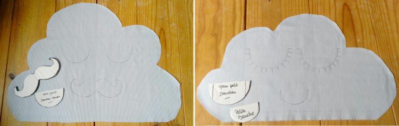 Diy couture facile fabriquer un doudou nuage id es et - Comment enlever du stylo sur du tissu ...