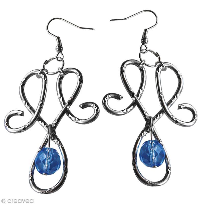 Diy bijoux boucles d 39 oreilles en fil alu id es et - Tuto bijoux pate fimo et fil aluminium ...