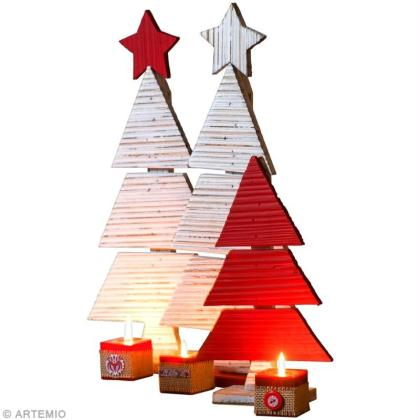 Cr ation d co de no l sapins en bois id es et conseils - Creation decoration de noel ...