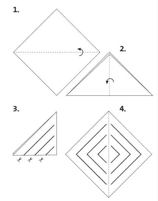 D co de no l r aliser une toile suspendre en papier - Comment fabriquer une guirlande de noel en papier ...