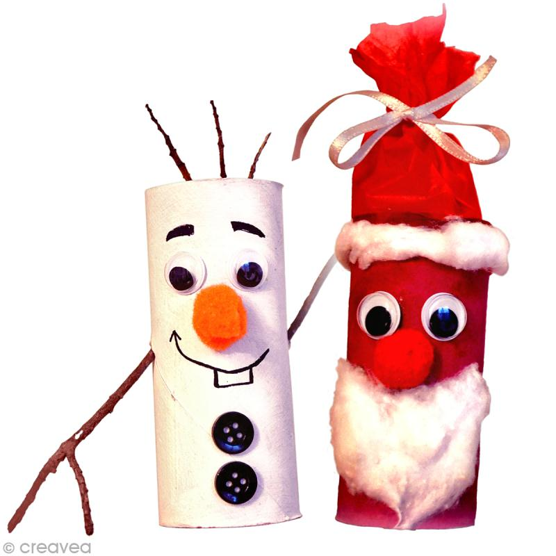Diy no l enfant sp cial r cup p re no l et bonhomme de - Activite manuelle decoration de noel ...