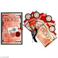 Carte de Saint Valentin à fabriquer : tickets d'amour