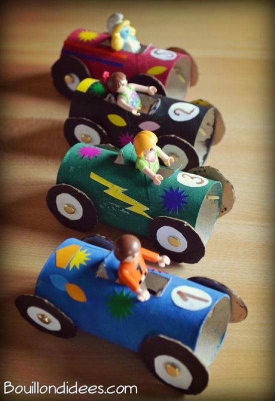 diy enfant r cup voiture de course avec rouleau en carton id es et conseils activit. Black Bedroom Furniture Sets. Home Design Ideas