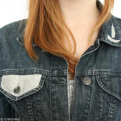 diy customisation veste en jean id es et conseils customisation. Black Bedroom Furniture Sets. Home Design Ideas