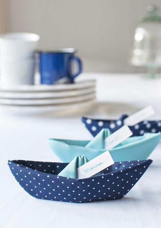 diy origami facile bateau en tissu id es et conseils origami. Black Bedroom Furniture Sets. Home Design Ideas