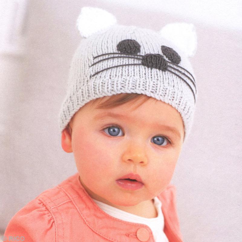 modèle tricot bonnet chat