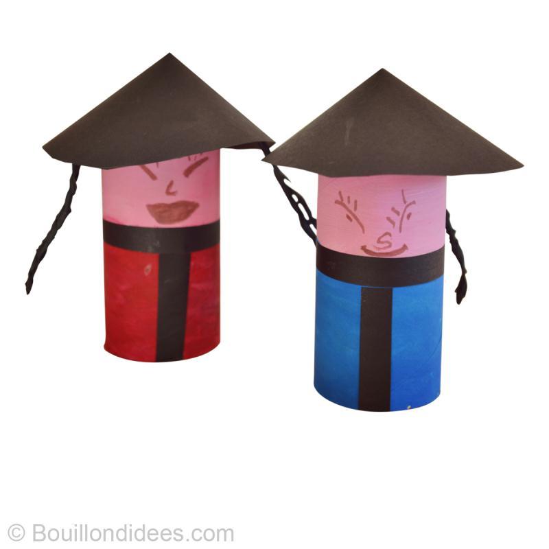 diy r cup facile poup e chinoise id es et conseils activit manuelle enfant. Black Bedroom Furniture Sets. Home Design Ideas