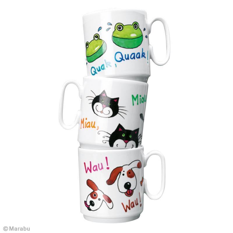 customiser son mug avec des t tes d 39 animaux id es et conseils d coration de table. Black Bedroom Furniture Sets. Home Design Ideas