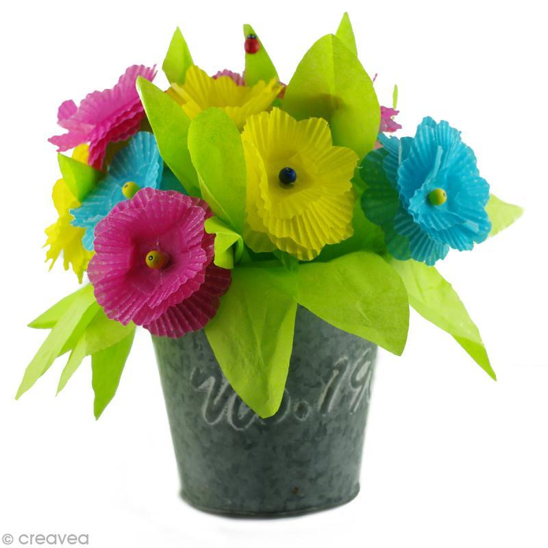 bricolage de f te des m res un bouquet de fleurs pour. Black Bedroom Furniture Sets. Home Design Ideas