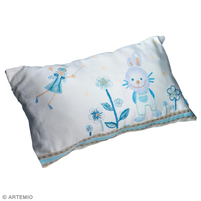 coussin personnalis pour b b tuto id es et conseils peinture textile. Black Bedroom Furniture Sets. Home Design Ideas