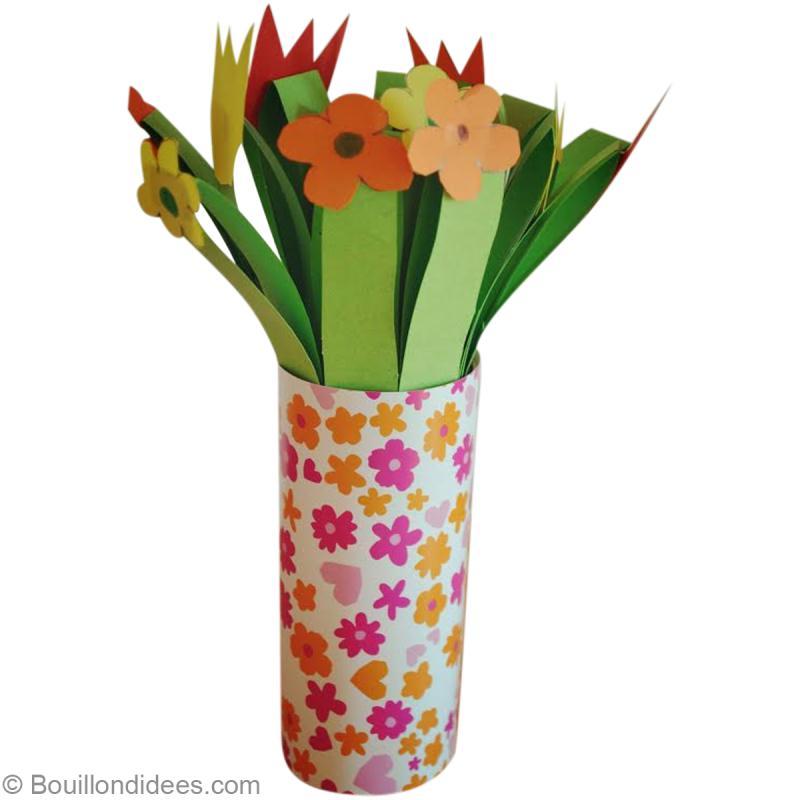 Activit manuelle de f te des m res bouquet de fleurs en papier id es et conseils activit - Activite fete des grand mere ...