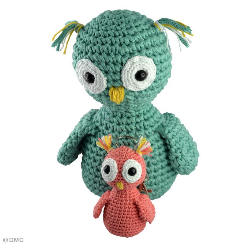 Modèle de chouette au crochet en fil Natura - Idées et conseils Crochet et tricot