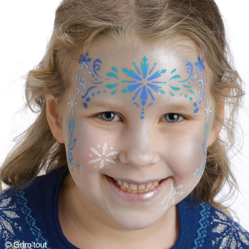 maquillage yeux reine des neiges