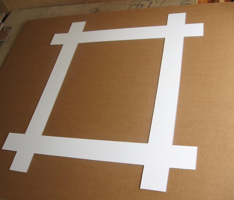 Miroir photophore en carton id es et conseils meuble en carton - Miroir a la decoupe ...