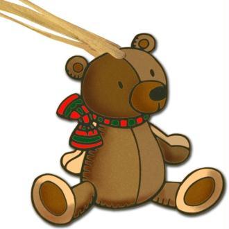 Déco de sapin de Noël Ourson en plastique dingue