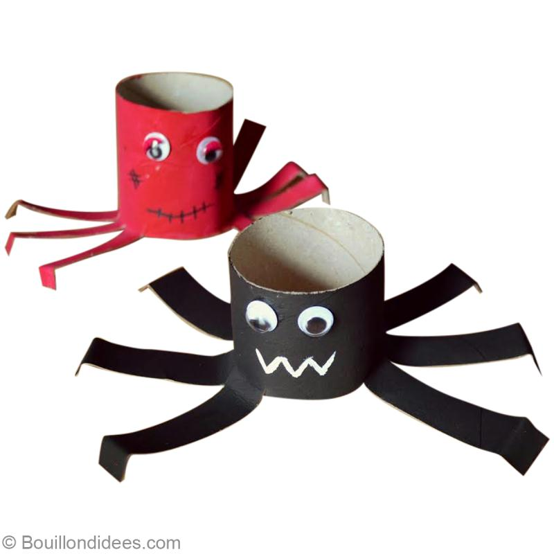 diy halloween araign e en carton r cup id es et. Black Bedroom Furniture Sets. Home Design Ideas