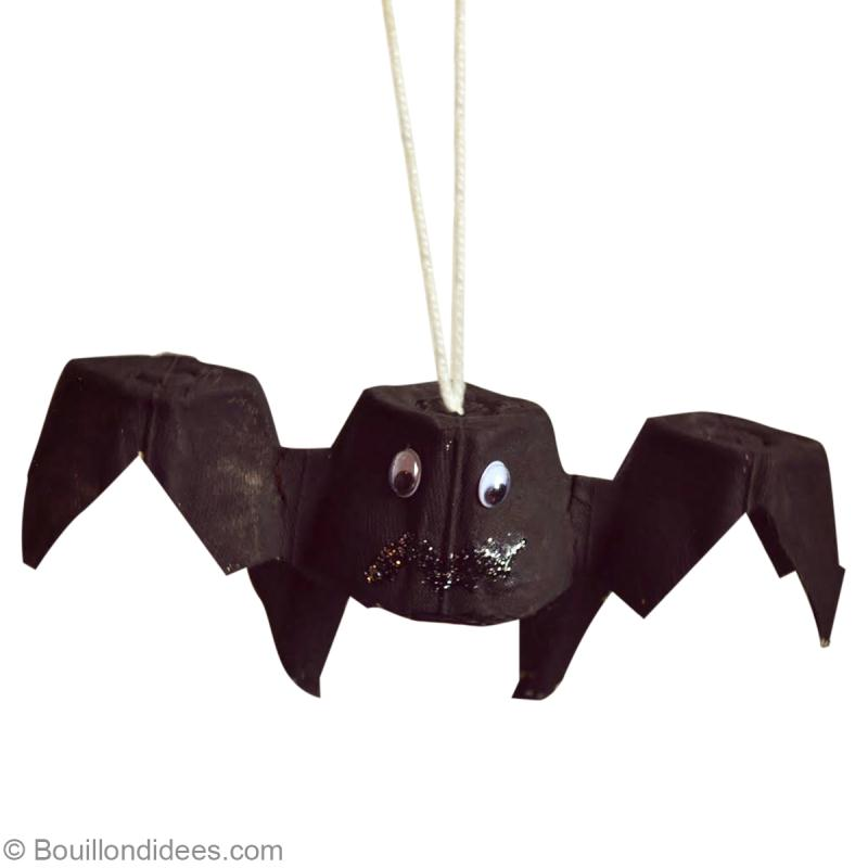 bricolage halloween facile chauve souris r cup id es et conseils activit manuelle enfant. Black Bedroom Furniture Sets. Home Design Ideas