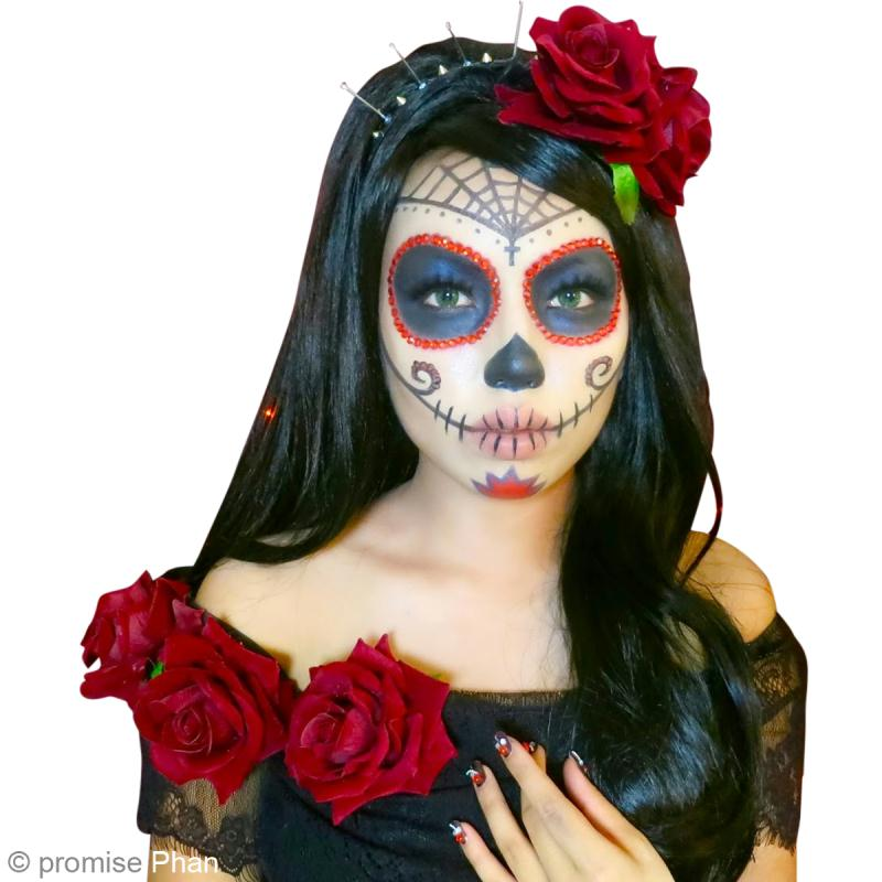 Diy maquillage halloween f te des morts mexicaine id es et conseils halloween - Maquillage mexicain facile ...