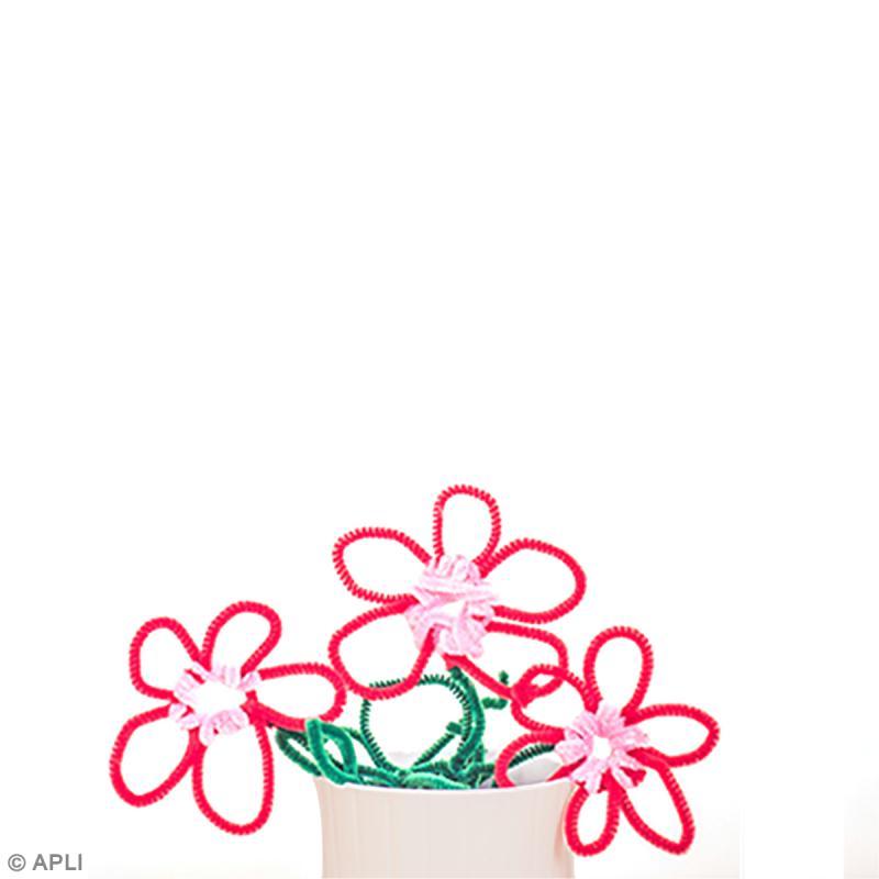 Bricolage enfant fleurs en fil chenille id es et conseils activit manuelle enfant - Activite manuelle fleur ...