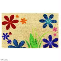 Customisation tapis fleuri
