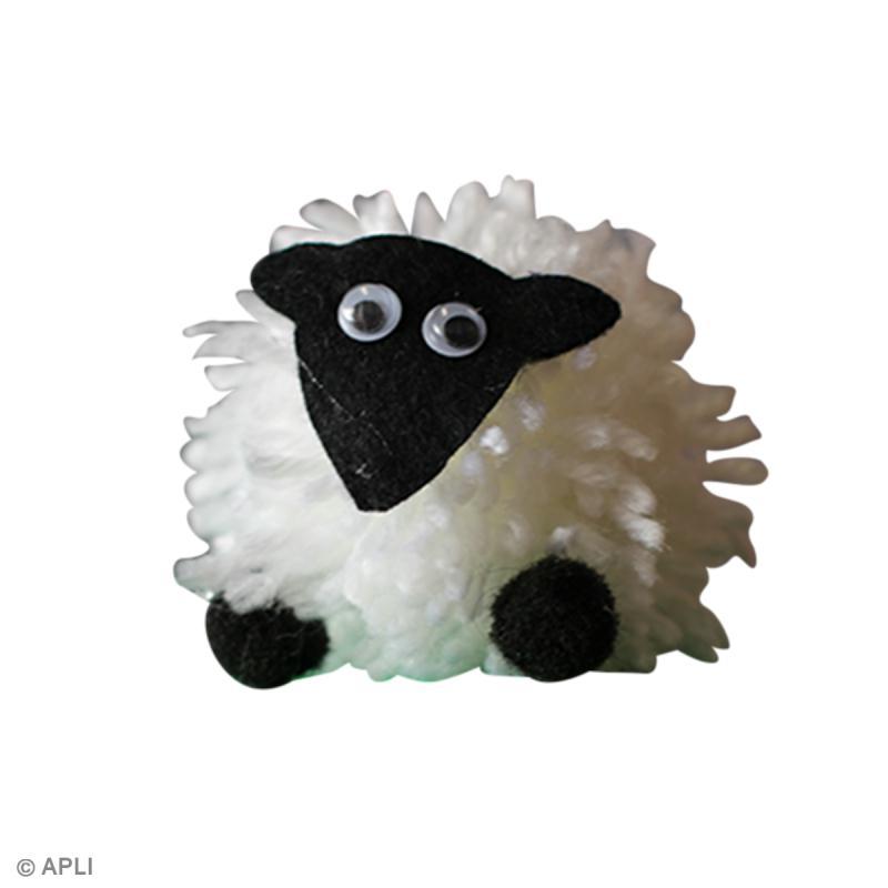 diy mouton en laine en pompon id es et conseils activit manuelle enfant. Black Bedroom Furniture Sets. Home Design Ideas