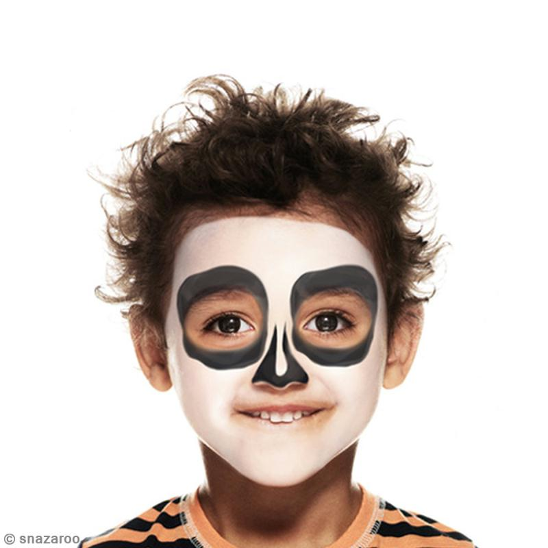Maquillage squelette - Maquillage halloween facile garcon ...
