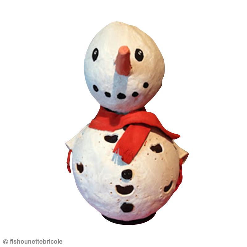 Bricolage de no l bonhomme de neige lanterne id es et conseils bougies bougeoirs et photophores - Bonhomme de neige bricolage ...