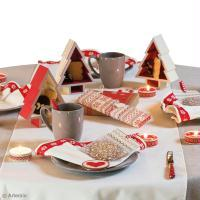 DIY Déco de table Noël traditionnel Jacquard
