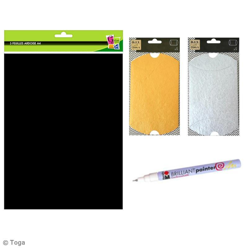 Diy emballage cadeau ardoise id es et conseils no l noir - Comment faire un paquet cadeau original ...