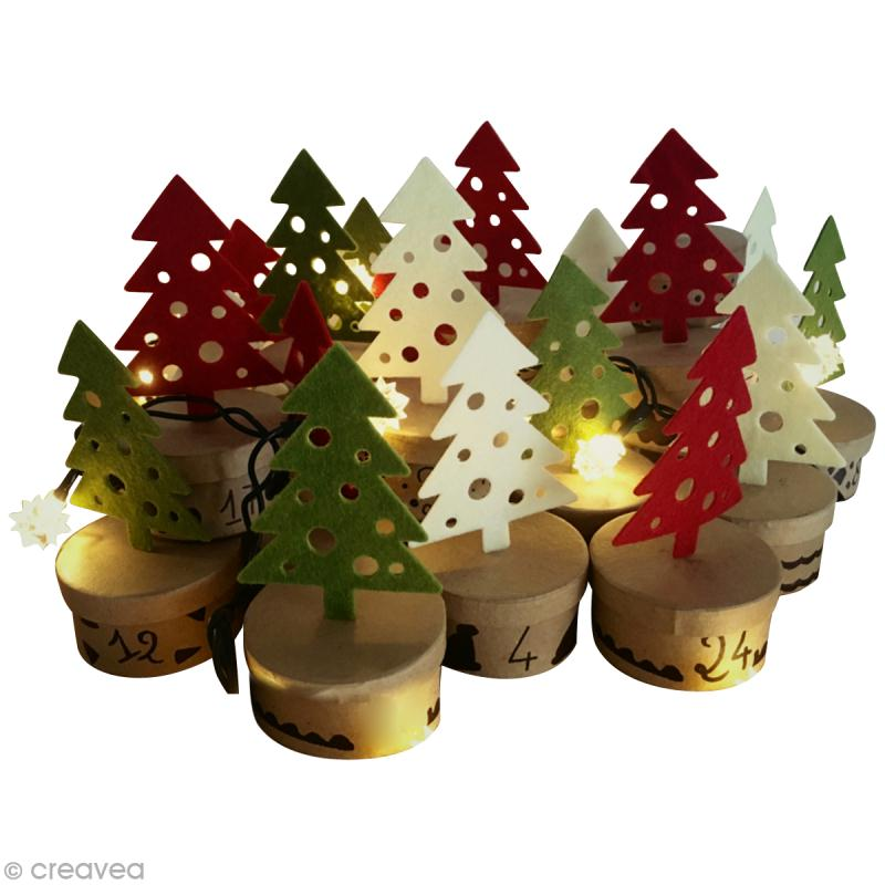 Diy calendrier de l avent for t de sapins id es et - Bricolage decoration de noel ...