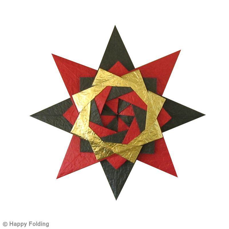 Diy origami toile no l vid o id es et conseils origami - Origami etoile de noel ...
