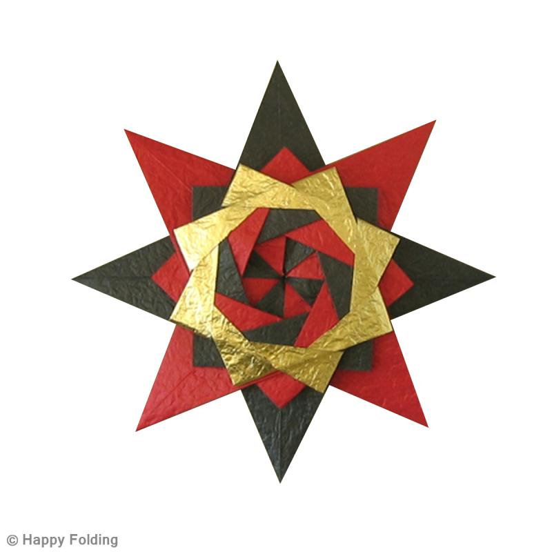 Diy origami toile no l vid o id es et conseils origami - Origami de noel facile ...