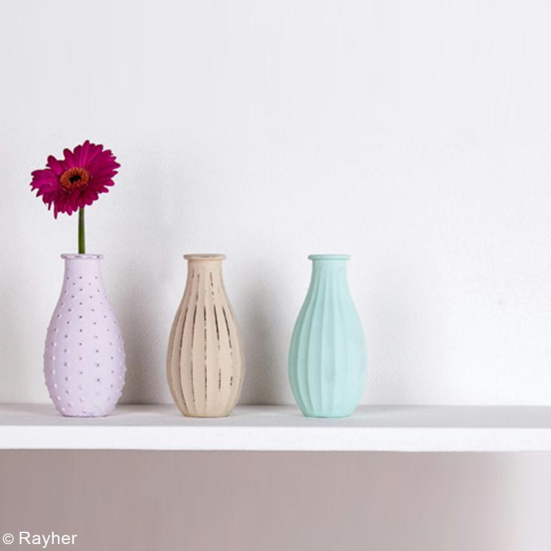 DIY Vase peinture chalky finish - creavea