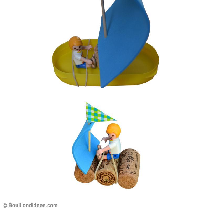 Bricolage enfant fabriquer des petits bateaux id es et - Activite manuelle recyclage ...
