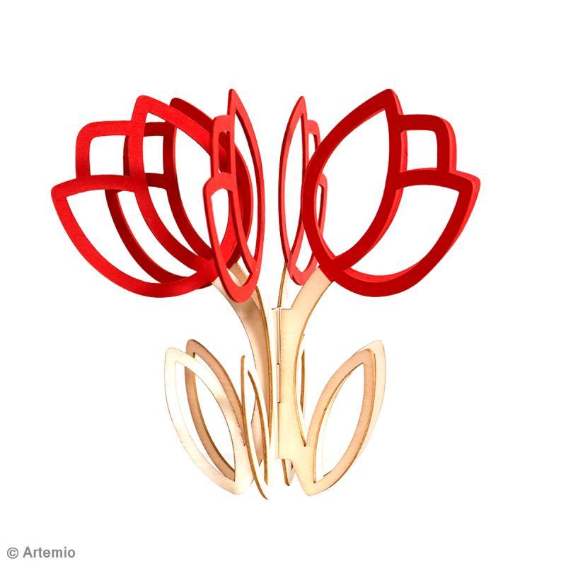 ... Décoration > DIY Saint Valentin : Décoration de fleurs en bois