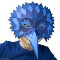 Masque de Carnaval oiseau : Le corbeau