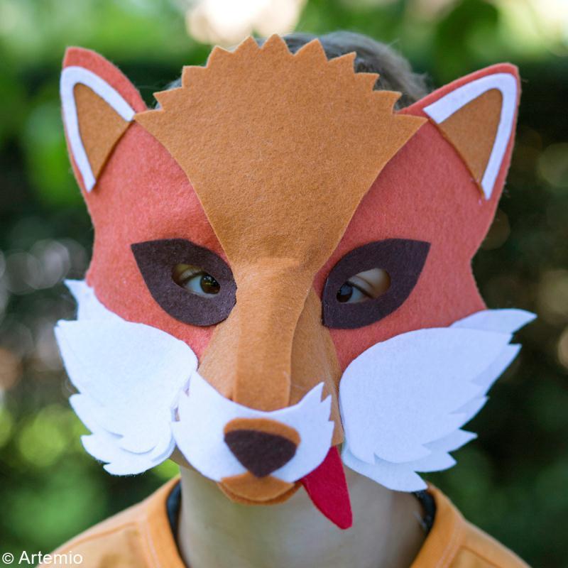 Diy masque de renard facile faire id es et conseils carnaval mardi gras - Masque de renard a imprimer ...