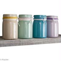DIY déco : Recycler vos pots en verre avec de la peinture Chalky finish