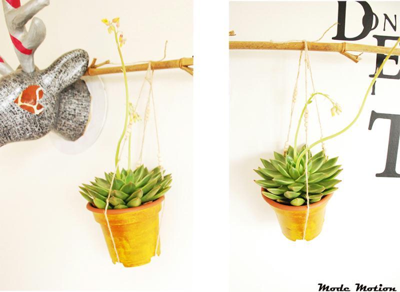 diy pots de fleurs suspendus id es et conseils d coration. Black Bedroom Furniture Sets. Home Design Ideas