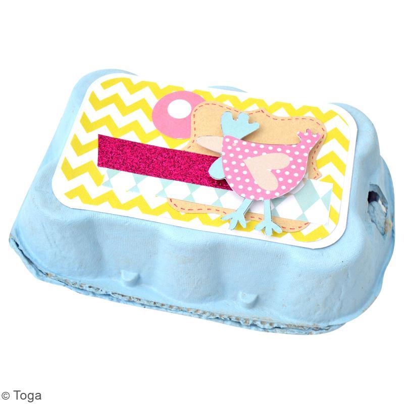 Diy d coration de bo te oeuf id es et conseils p ques - Decorer boite carton pour anniversaire ...